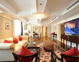 Chiêm ngưỡng TV 8K 200 triệu đẹp hoàn hảo trong phòng tổng thống khách sạn 5 sao