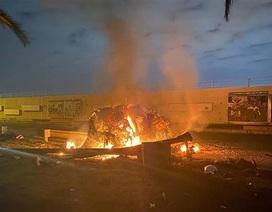 Video đoàn xe của tướng Iran cháy rụi vì bị trúng tên lửa Mỹ