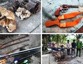 Bị vây bắt,nhóm trộm chó hung hãn chém 2 cảnh sát bị thương