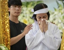 Vợ nghệ sĩ Nguyễn Chánh Tín nghẹn ngào trong tang lễ chồng