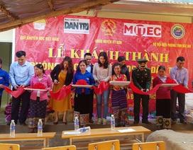 Báo Dân trí khánh thành điểm trường Mầm non sát biên giới Việt - Lào
