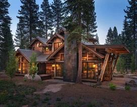 Ngôi nhà gỗ trên núi tuyệt đẹp, ai nhìn cũng thích mê