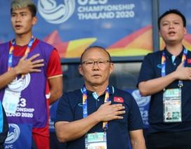 HLV Park Hang Seo lo Tấn Sinh nhận thẻ đỏ và sử dụng Đình Trọng