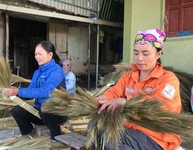 Nghệ An: Hối hả làng nghề chổi đót Hoà Hội ngày giáp Tết