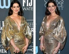 Anne Hathaway diện váy xẻ gợi cảm tái xuất sau khi sinh con thứ 2