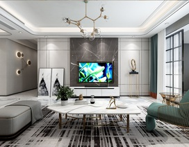 Xu hướng nội thất năm 2020: Phòng khách cao cấp đón thế hệ TV OLED siêu mỏng