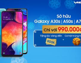 Samsung Galaxy A30s, A50s, A51, A70 sở hữu chỉ với 990k khi mua trả góp 0%