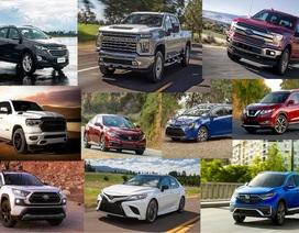 Top 10 mẫu xe bán nhiều nhất nước Mỹ năm 2019
