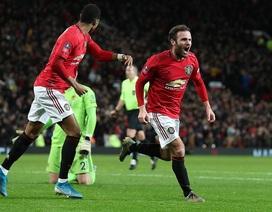 Manchester United vào vòng 4 FA Cup nhờ bàn thắng của Mata
