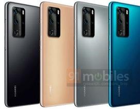 Lộ ảnh chính thức Huawei P40 Pro có cụm camera nổi bật