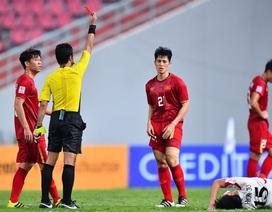 Nhận thẻ đỏ, Đình Trọng sẽ vắng mặt ở vòng loại World Cup 2022