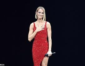 Celine Dion rớm lệ khi biểu diễn ngay sau khi mẹ qua đời