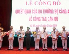 Công an Hà Nội có 7 Trưởng phòng, Trưởng Công an quận, huyện mới