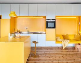 Căn nhà 80 m2 bắt mắt và đầy sức hút nhờ những bức tường sơn vàng ấn tượng