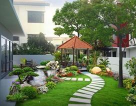 Những mẫu sân vườn xanh ngắt tràn đầy sức sống đón xuân