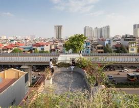 """Nhà ống như """"ốc đảo xanh"""" ở Hà Nội gây """"sốt"""" vì thiết kế độc lạ"""