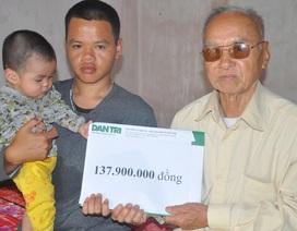 Người mẹ nghèo suy thận mơ có hộp sữa cho con được bạn đọc giúp đỡ gần 138 triệu đồng