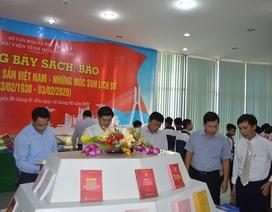 """Trưng bày sách, báo với chủ đề """"90 năm Đảng Cộng sản Việt Nam- Những dấu mốc lịch sử"""""""