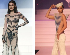 Bella mặc váy xuyên thấu, Gigi Hadid táo bạo khoe eo thon