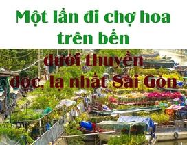 Một lần đi chợ hoa trên bến dưới thuyền độc, lạ nhất Sài Gòn