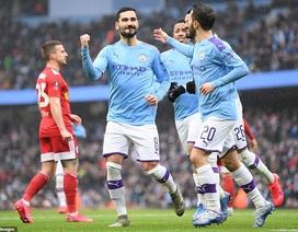 """Man City thắng """"4 sao"""", Liverpool phải đá lại với đội hạng ba"""
