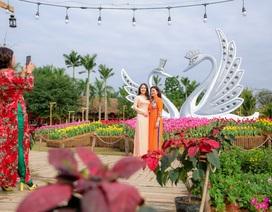 Hàng ngàn người đổ về check-in tại lễ hội hoa xuân ngập sắc màu ngay gần Hà Nội