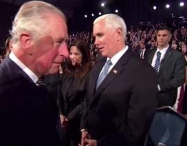 """Video Thái tử Anh """"phớt lờ"""" Phó tổng thống Mỹ"""