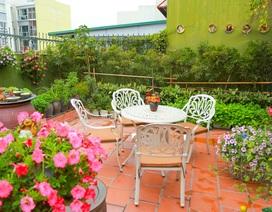Mê mẩn căn penthouse với khu vườn ngập cây xanh đẹp hiếm có ở Hưng Yên