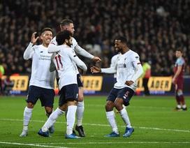 Thắng West Ham, Liverpool hơn đội bám đuổi Man City tới 19 điểm