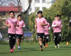 Quang Hải, Đình Trọng hứng khởi luyện tập ngày khai xuân