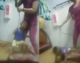 Xác minh thông tin bé trai bị mẹ cột dây vào cổ, bạo hành dã man