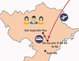 Hành trình di chuyển của 3 người Việt dương tính với virus Corona