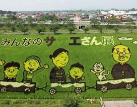 """Những cánh đồng lúa """"chất chơi"""" của nông dân Nhật Bản"""