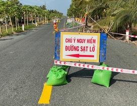 Tạm ngừng xe ô tô lưu thông qua đoạn đường sụt lún nghiêm trọng