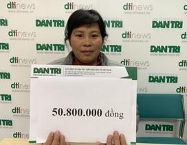 Cậu bé Quân bị ung thư máu tiếp tục nhận hơn 50 triệu của bạn đọc giúp đỡ