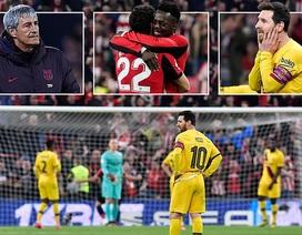 Messi gây thất vọng, Barcelona thua Bilbao và chia tay Cúp Nhà vua