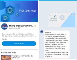 Ra mắt chatbot về nCoV trên Zalo, kiểm tra lây nhiễm theo địa phương