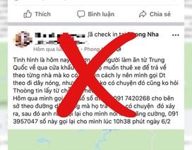 Triệu tập người tung tin trên 200 người từ Trung Quốc về không được cách ly