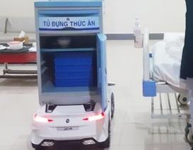 Dùng robot mang thức ăn phục vụ bệnh nhân cách ly nghi nhiễm nCoV