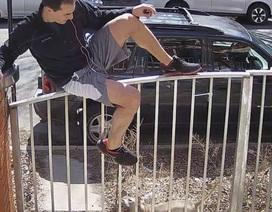 Clip: Đang chạy thể dục thì bị chó đuổi, người đàn ông bất đắc dĩ trèo rào