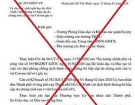 TPHCM: Điều tra vụ mạo danh Sở làm văn bản giả cho học sinh nghỉ học tiếp