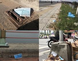 Khẩu trang y tế vương vãi khắp nơi trên đường phố Đà Nẵng