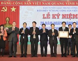 Báo điện tử Đảng Cộng sản Việt Nam đón nhận Huân chương Lao động hạng Nhì