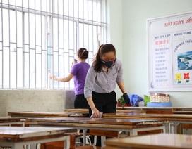Quảng Trị: Học sinh nghỉ đến hết tháng 2, trường học tiếp tục khử trùng