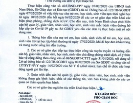 Nam Định: Hơn 400 nghìn học sinh đi học trở lại từ ngày 17/2