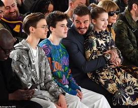 David Beckham đưa các con dự buổi ra mắt bộ sưu tập mới của Victoria