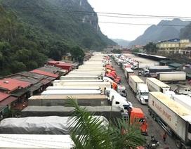 Lượng xe lên cửa khẩu tăng mạnh, lại ùn ứ hơn 750 xe nông sản
