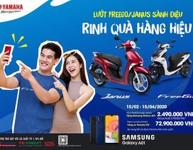 Mua xe Yamaha Janus và FreeGo được tặng điện thoại Samsung A01