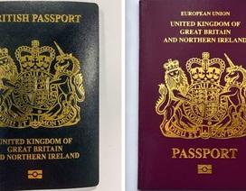 Anh chính thức đổi màu hộ chiếu sau khi rời EU