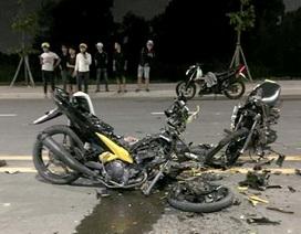 2 xe máy tông nhau nát bét, 2 người tử vong